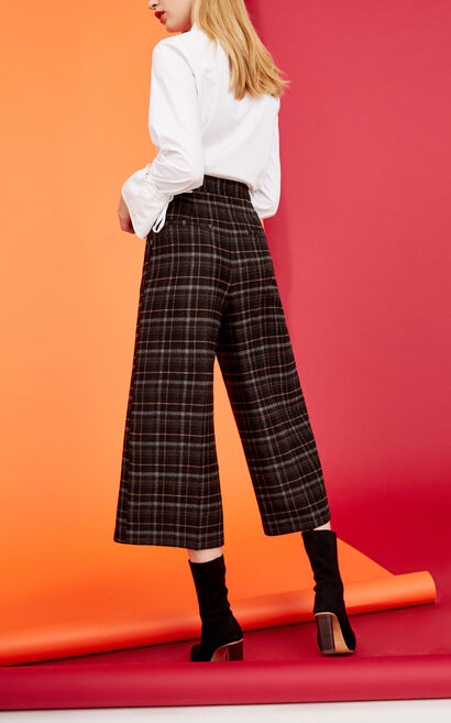 FARE 7/8 WIDE PANTS(CP), Yellow, large