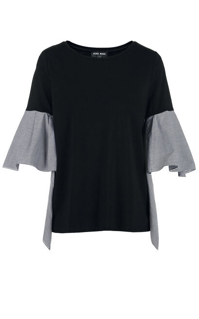 Vero Moda DEUX 1/2 JERSEY TOP(FL), Black, large