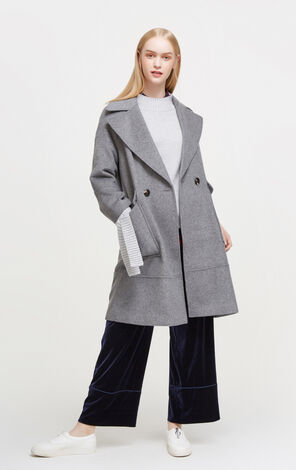 Vero Moda New Arrival Regular Fit Drop-shoulder Sleeves Woolen Overcoat|317427507