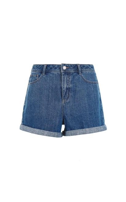Vero Moda Washing 2-layer short casual denim pants female |317243519, Blue, large