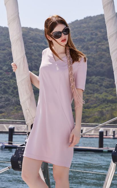 BUTTER 1/2 DRESS(HH)-OR, Pink, large